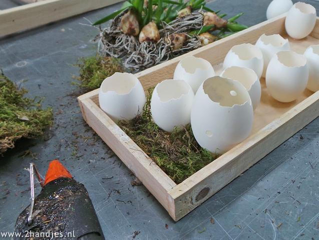 zelfmaakidee voor pasen met eieren