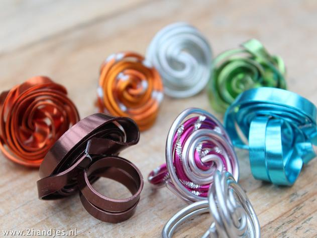 ringen van aluminiumdraad