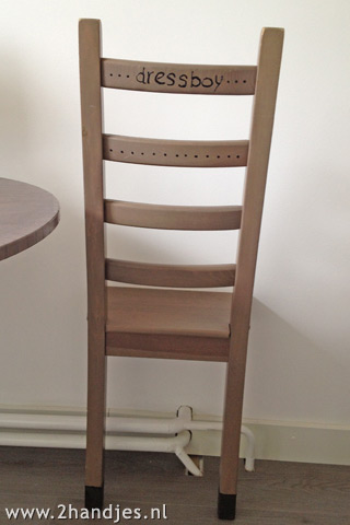 zelfmaak ideetjes Dressboy van een stoel