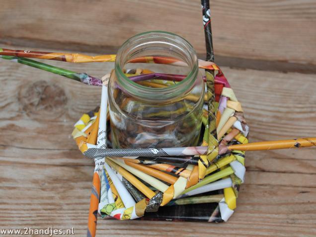 zelfmaak ideetje waxinelichtjes knutselen voor moederdag