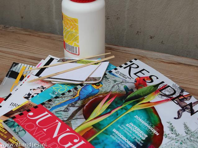 zelfmaak ideetje waxinelichtjes van papier